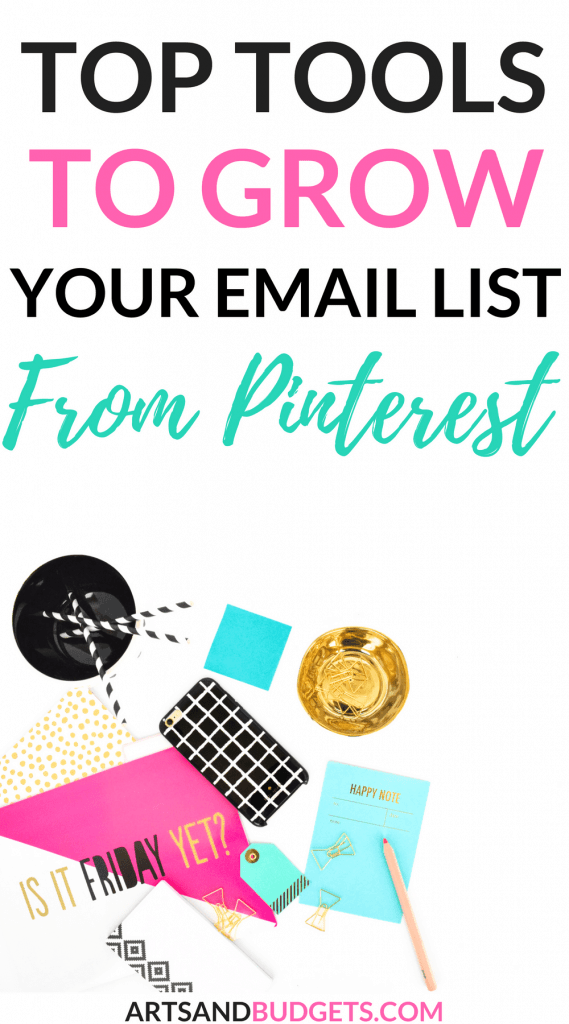 Top Tools to grow your email list from Pinterest