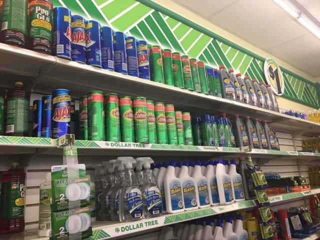 Dollar Store Cleaning Supplies for cheap