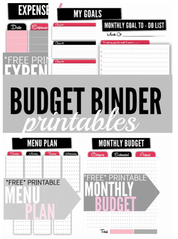 Free budget and meal planner