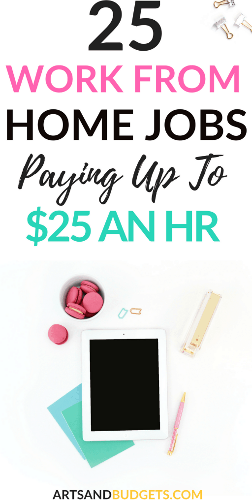 25 work from home jobs