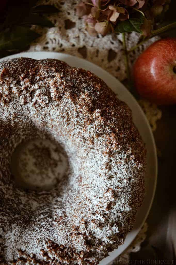 Apple Crumb ring cake