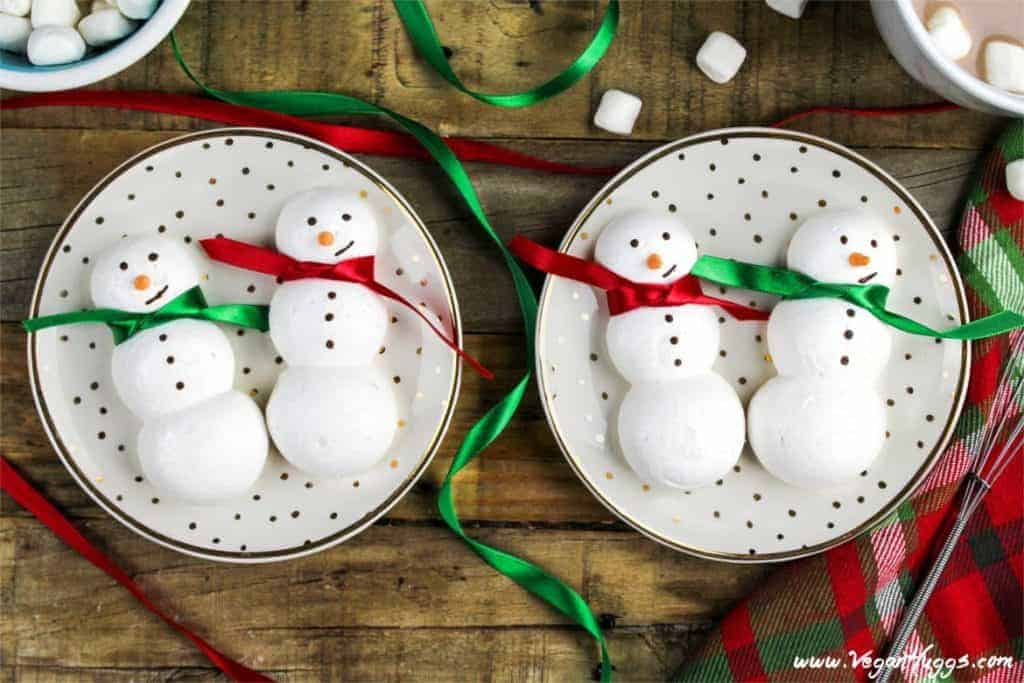 snowmen meringue cookies