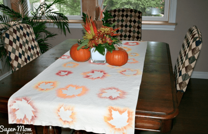 Painted Maple Leaf Table Runner