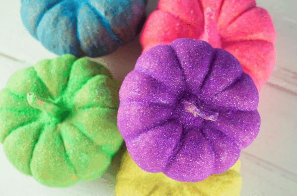 Rainbox DIY Glitter Pumpkins