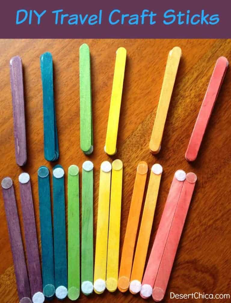 Colorful travel sticks for children