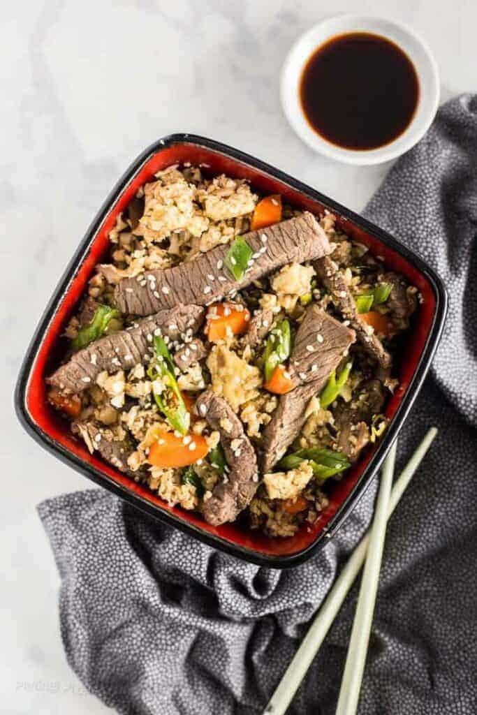 Keto Beef Fried Rice recipe