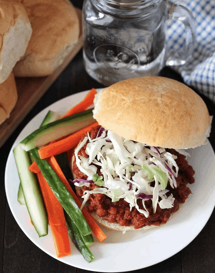 Smoky Lentil Sloppy Joes
