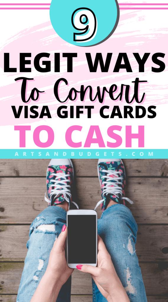 Convert Visa Gift Cards To Cash Pin Image
