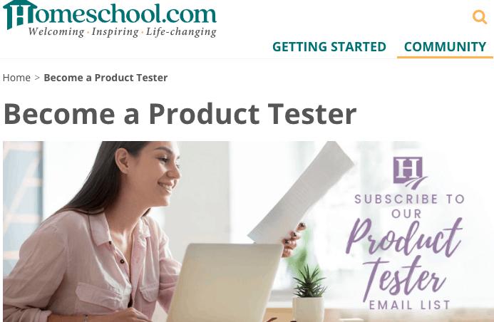 Homeschool product testing