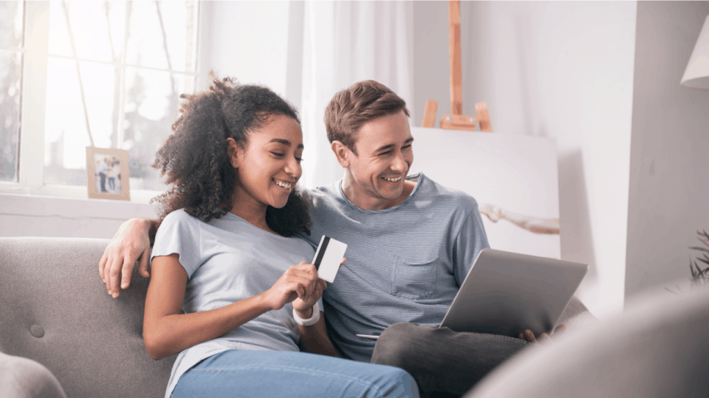 Couple with credit cards