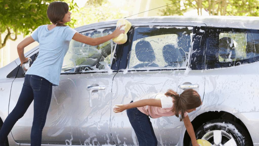 kids washing cars
